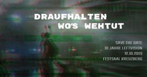 10 Jahre leftvision - Party: Draufhalten wo's wehtut!